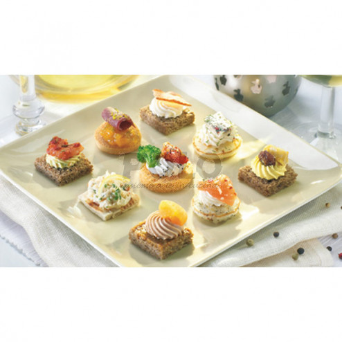 Vassoio canape' tartine salate assortite - 07110045