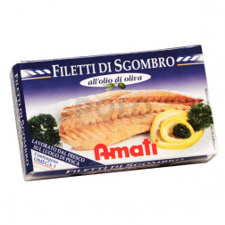 Sgombro filetto o. oliva 125 gr amati