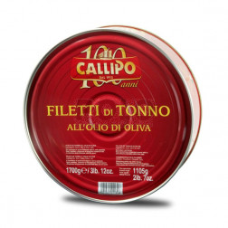 Tonno filetti o. oliva callipo gr 1700