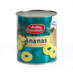 Ananas sciroppato jollycol. 6 x 3 kg