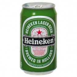 Birra heineken in lattina 330 ml