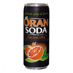 Oransoda in lattina 330 ml