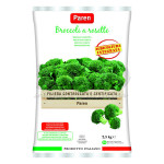 Broccoli rosette block frozen