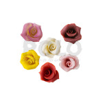 Rose in marzapane piccole ass. 42 pz
